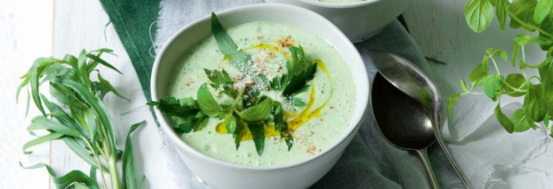 bylinková polievka s mandľami