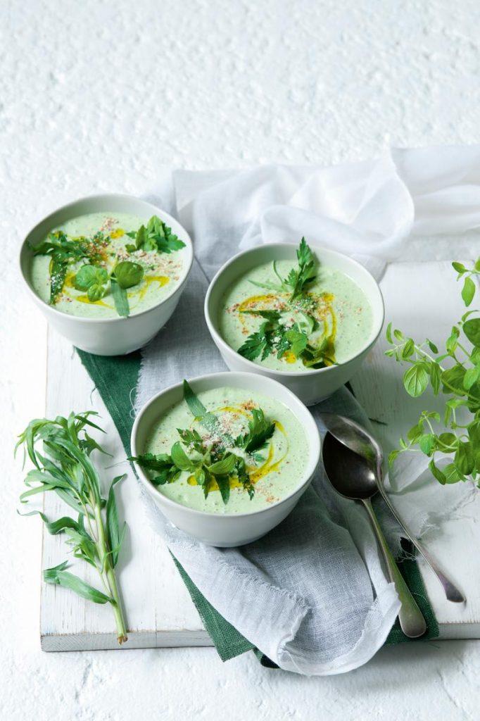 polievka, Bylinková polievka s mandľami