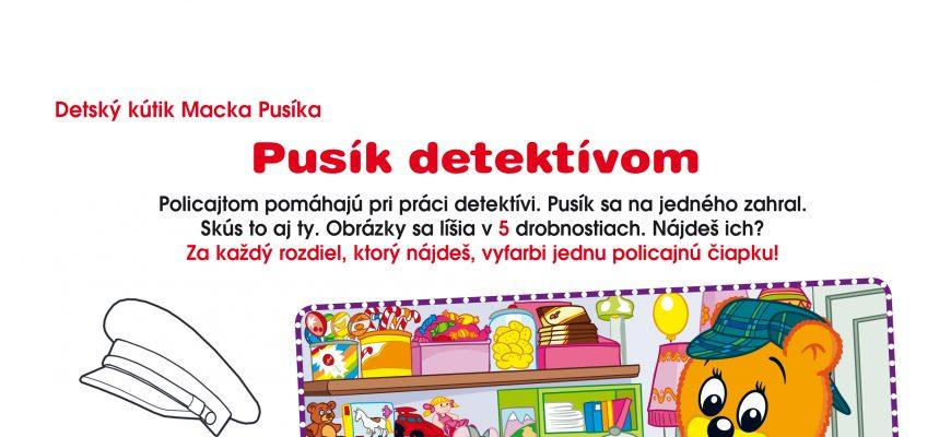 Macko Pusík detektívom
