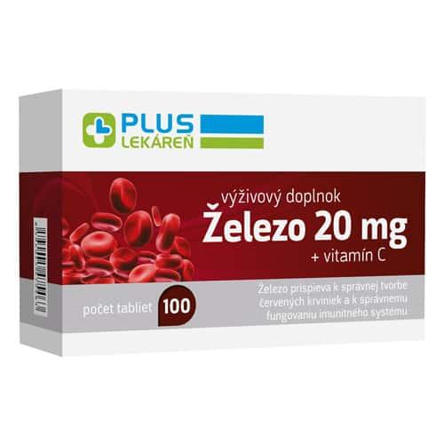 Železo 20 mg + vitamín C 100 mg, 100 tbl