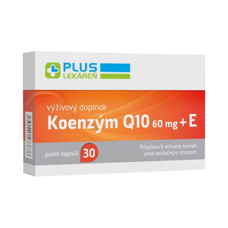 Koenzým Q10 60 mg + E, 30 cps