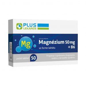 Magnézium 50 mg + B6, 50 tbl