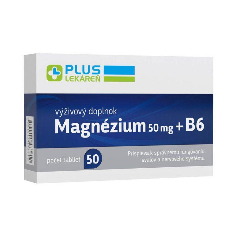 Magnézium 50 mg + B6 50 tbl