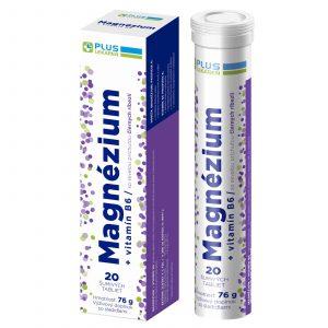Magnézium + Vitamín B6 s príchuťou čiernych ríbezlí, 20 šumivých tabliet