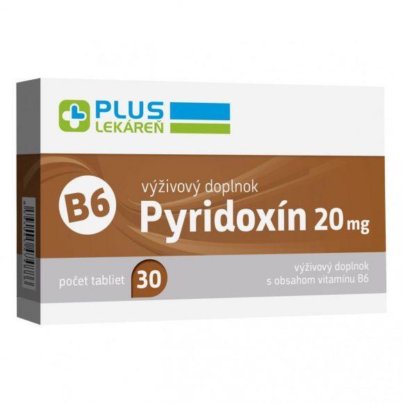 Pyridoxín 20 mg (vitamín B6), 30 tbl