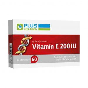Vitamín E 200 IU, 60 cps