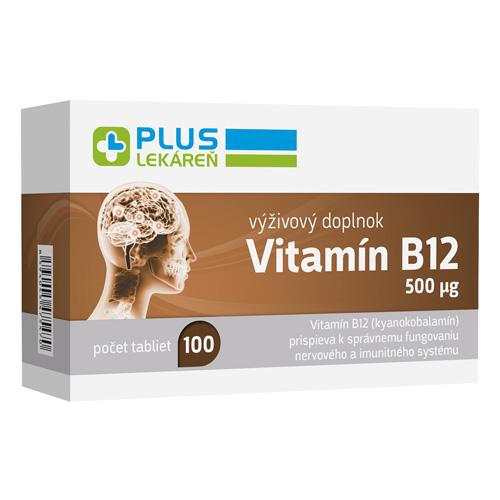 Vitamín B12 500 mcg, 100 tbl