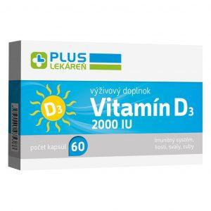 Vitamín D3 2000 IU, 60 cps